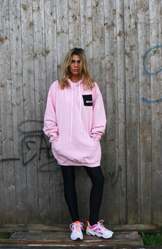 NORTH OF GERMANY SPECIAL HOODIE DRESS GLIMMER ANKER BABY PINK