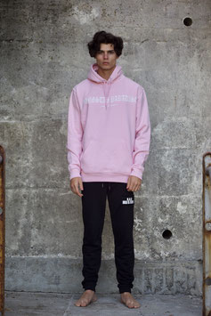 NORTH OF GERMANY ORGANIC COTTON HOODIE COTTON PINK GANGSTAS PARADISE MEN