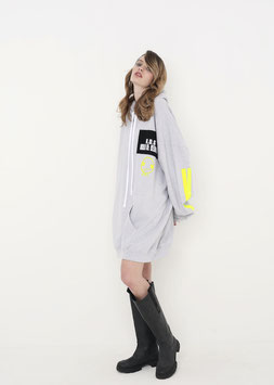 NORTH OF GERMANY SPECIAL HOODIE DRESS HEATHER GREY DON´T ASK ME
