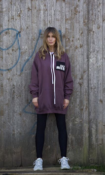 NORTH OF GERMANY SPECIAL HOODIE DRESS WILD MULBERRY ALIEN