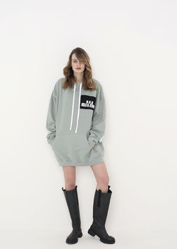 NORTH OF GERMANY SPECIAL HOODIE DRESS DUSTY GREEN AMOR