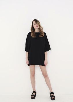 NORTH OF GERMANY SPECIAL CLASSY OVERSIZED AVANTGARDE SHIRT BLACK