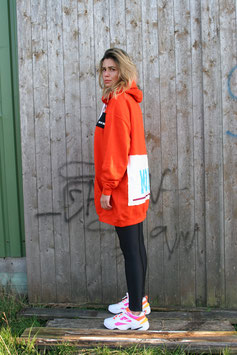 NORTH OF GERMANY SPECIAL HOODIE DRESSES SUNSET ORANGE MOIN