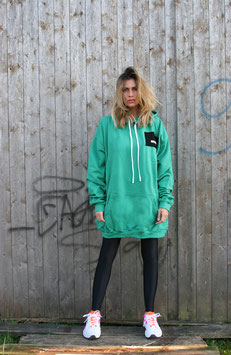 NORTH OF GERMANY SPECIAL HOODIE DRESS FOLLOW ME SPRING GREEN