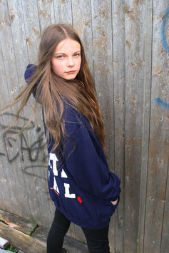 NORTH OF GERMANY SPECIAL KIDS HOODIE OXFORD BLUE NORTH GIRL