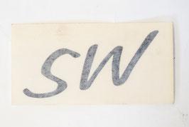 ADESIVO LOGO SW GRIGIO SCURO PER EKE SW  (cod. BAF90-0013394 - POS.28)