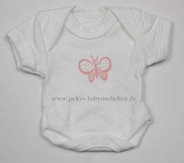 Baby Frühchen Body weiß mit rosa Schmetterling Gr.38 Nr.103