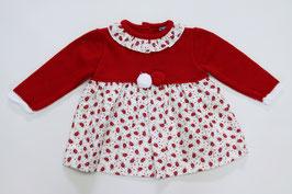 Babykleid mit Rosenmuster und Bommeln Nr.K025