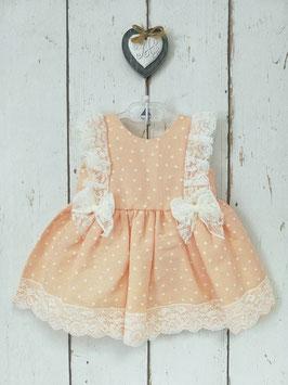 Babykleid in lachs mit Spitze Nr.K005