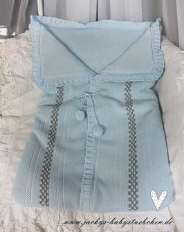 Kuschelsäckchen in blau-grau Nr.031