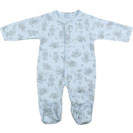 Schlafanzug in blau mit Muster Nr.JSA002