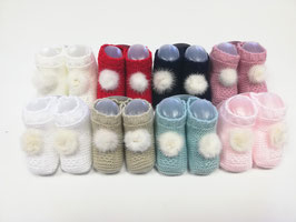 Babybooties mit Fellquaste Nr.FS004