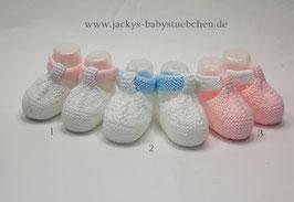 Feinstrickschuhe in 3 farben Gr.50 size Newborn Nr.FS 003