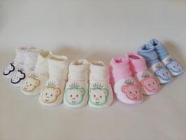 Babyschuhe in verschiedenen Farben mit Bärchen Nr.923