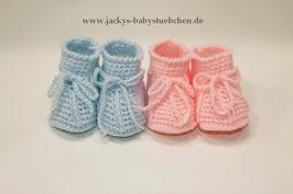 Häkelschuhe in rosa oder blau Gr. Newborn Nr.HS 002