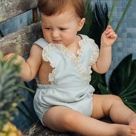 MARTIN ARANDA Babyromper in mint mit Schleife Nr.SaleM002
