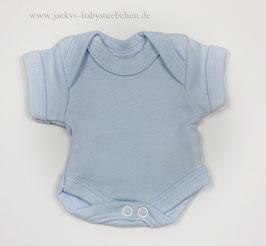 Baby Frühchen Body blau uni Gr.38 Nr.105