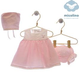 MICOLINO 3 teil. Babykleid ,,Familia Valeria,, Nr. SMSK/021