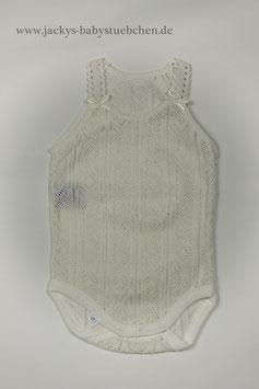 Body in creme oder weiß mit zarten Muster Gr.50 size 0-1 months Nr.UW007
