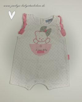 Babyspieler in weiß mit rosa Punkten Gr.50 SALE 058