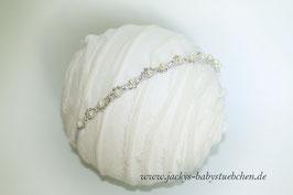 Newbornkopfband mit Strass und Perlen Nr.69
