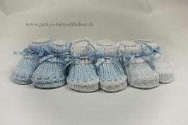 Babystrickschuhe in 3 Varianten Gr.50 size newborn Nr.FS 017