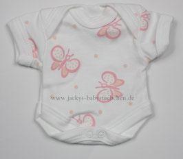Baby Frühchen Body weiß mit rosa Schmetterlingen Gr.32 Nr.506