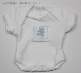 Baby Frühchen Body weiß mit blauen Bärchen Gr.42 Nr.711