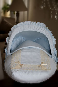Baby Autoschalensitzbezug blau mit Spitze Nr.002