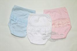 Babyhose mit Spitze in 3 Farben Gr.50 size 0 Nr.UW018