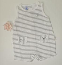 Overall in weiß mit grauen Streifen Nr.SaleJ067