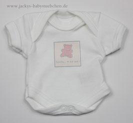 Baby Frühchen Body weiß mit rosa Bärchen  Gr.42 Nr.712
