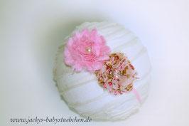 Newborn Kopfband mit zwei Blüten Nr.65