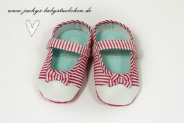 Babyschuhe in pink gestreift Gr.16 Nr.915