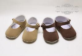 Babyschuhe in 2 Farben aus Velour Gr.15-17 Nr.901