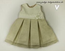 Kleid in creme mit Blüte Gr.50-56 0-3 months Nr.613
