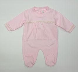 Babyoverall in rosa mit Borde Nr.OV0029