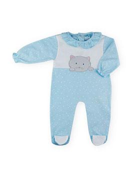 Babyschlafanzug mit Katze Nr.832