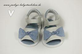 Baby Sandalen in weiß mit blauer Schleife Gr.16 Nr.912