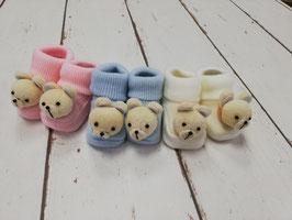 Babyschuhe mit Bär Nr.924
