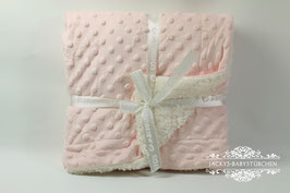 Babydecke in rosa-creme Gr.80x110 Nr.BD003
