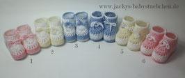 Feinstrickschuhe in 6 verschiedenen Farben Gr.50 size Newborn Nr.FS 016