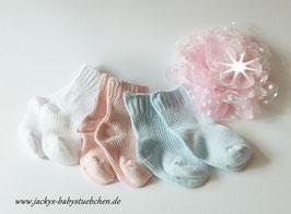 Süße Babysöckchen in 3 Farbvarianten Gr.50 Nr.SK015