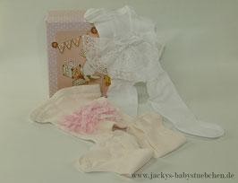 Strumpfhose mit Spitze in 2 Farben Gr.50 size Newborn Nr.ST002