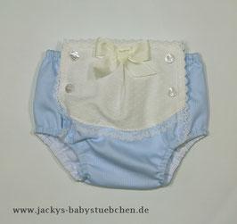kurze Hose in blau-creme mit Schleife Gr.50-56 size 0-3 Nr. JH001