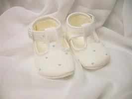Schuhe in creme-blau Gr.16 Nr.921