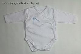 Body in weiß mit blauer Schleife Gr.50 size 0 Nr.JU003