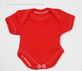 Baby Frühchenbody rot uni Gr.32 Nr.513