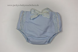 Babyhose in blau mit Spitze und Schleife Gr.50-56 size 0-1 months Nr.JH004