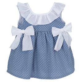 Kleid mit Punkten und Schleifen Nr. KM21/3-6/001